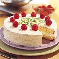 Recept - Taart met limoen en aardbeien - Allerhande