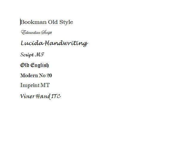 This listing is only available for rings made/purchased from my shop. If you did not purchase ring(s) from me, please don't add this service. Many thanks!    At this moment, I am offering 8 different engraving font options (please see the photo above).    (1). Bookman Old Style  (2). Edwardian Script  (3). Lucida Handwriting  (4). Script MT  (5). Old English  (6). Modern NO. 20  (7). Imprint MT  (8). Viner Hand ITC    {Tips & Ideas}    • Limit the length of your message between 20 to 25…