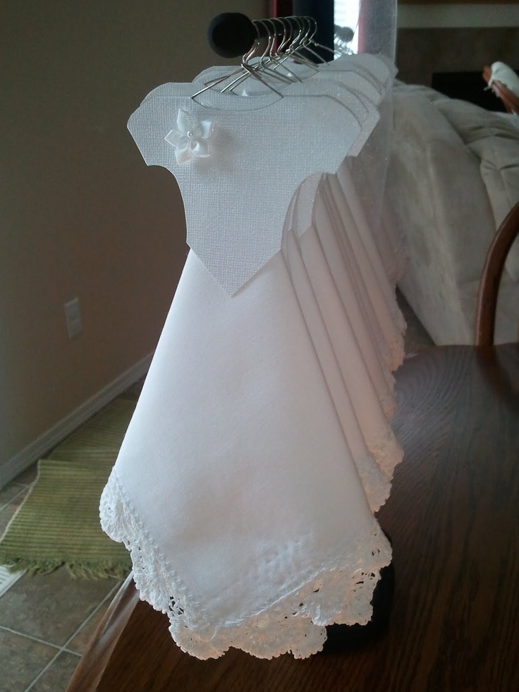 Very cute wedding dress hanky craft i have a similar one for Cute white wedding dresses