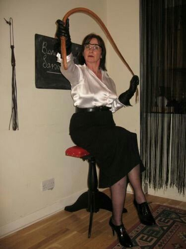 Madame Margi is highly skilled using the sjambok  Strict