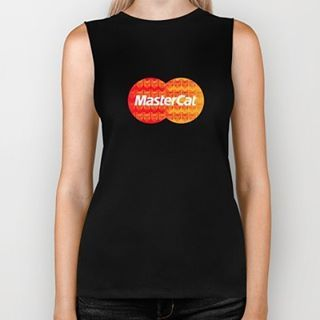'MasterCat' black biker tank top. #foreverythingelsetheresmastercard #design #mastercat #mollycatfinland #black #blacktee #cat #catfashion #parody #banks #bankcard #mastercard #mashup #logo #instadesign #girlsfashion #cattheme #tee #tshirt #catstyle #cool #cooltees #cattshirt #instacat #catlover #catlovers #blackfashion