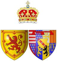 Coat of arms of Mary (of Guise) as Queen consort of Scots