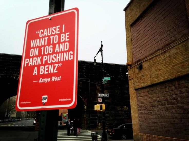 Street Art Project Maps Rap Lyric Shout Outs Around NYC: Gothamist  THIS IS SOOOOO COOL! LOVE THIS IDEA!