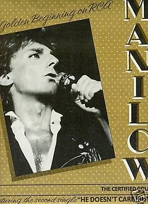 BARRY MANILOW A Golden Beginning.. 1986 PROMO POSTER AD
