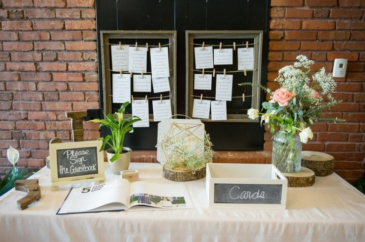 Tampa firefighters museum wedding - welcome table