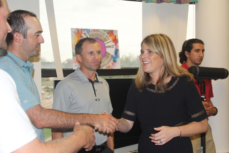 Jenna Bush Hager meeting some of the golfers to read to children at Friends of Children's Hospital in Jackson, MS.
