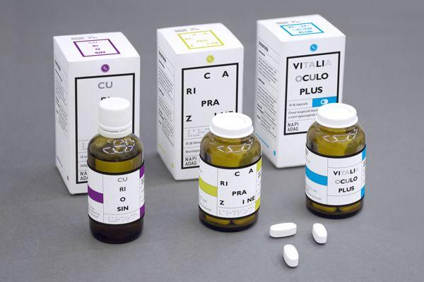 Medicine Package by Eszter Misztarka, via Behance