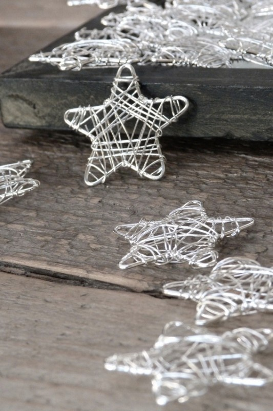 DIY ornaments-use a star cookie cutter and two different guages of wire. I love making these every year!
