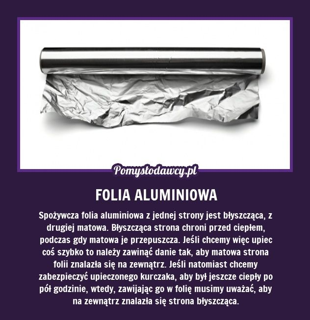 SEKRET FOLII ALUMINIOWEJ - PAMIĘTAJ O TYM!
