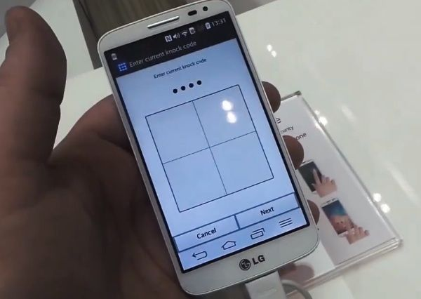 New LG Knock Code feature demo on video