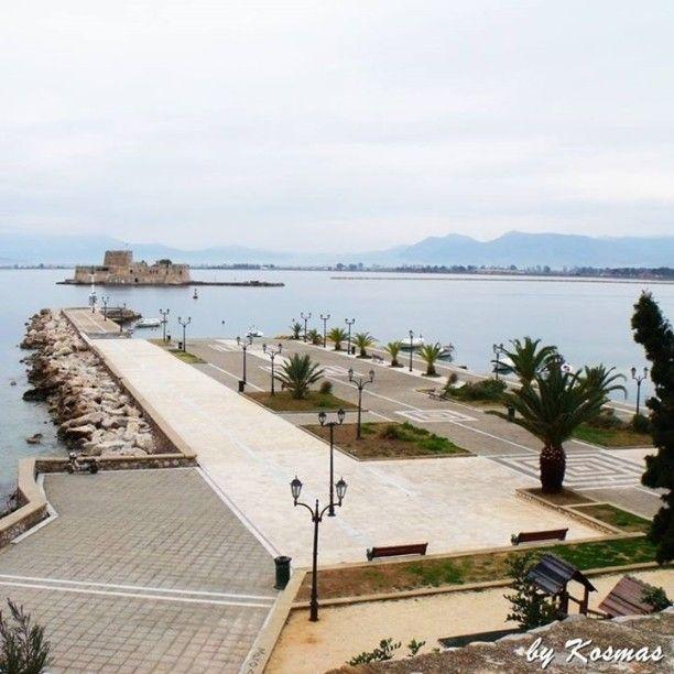 Vacation memories at Nafplio.  Bourgi Castle on site.  #seaview #Greece #sea #nature #ilovesea #blue #summer #summervacations  #nafplio #castle