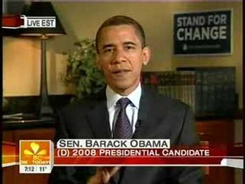 Morning of the Iowa Caucuses: Barack on The Today Show