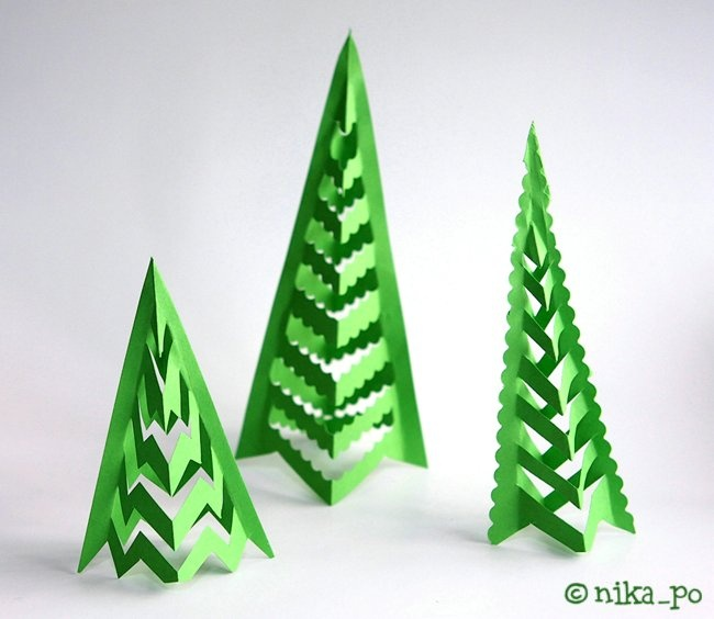 how to make christmas tree with craft paper