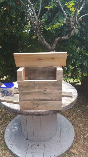 DIY Pallet Letterbox  (Before)
