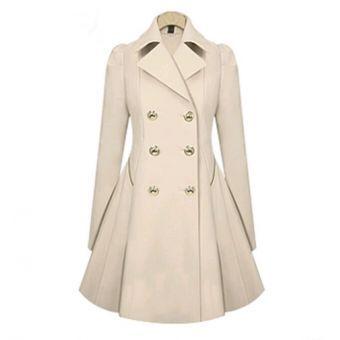 chaqueta de estilo elegante y europeo de color beige