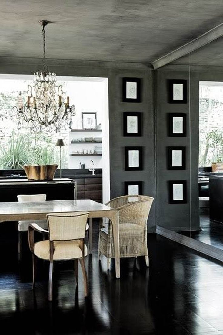 130 best dining room images on pinterest dining room design dining room contemporary dining room design ideas with unique crystal chandelier and black doff flooring