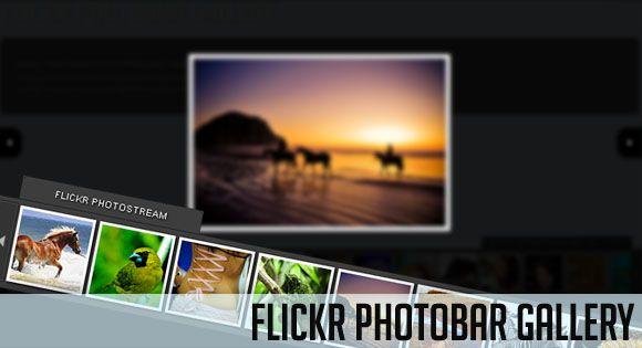 flickr http://tympanus.net/Tutorials/FlickrPhotobarGallery/ --- http://www.rudebox.org.ua/flickr-photobar-gallery/ http://tympanus.net/Tutorials/FlickrPhotobarGallery/