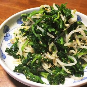 ダシダで簡単!ほうれん草ともやしのナムル by ゆも23 [クックパッド] 簡単おいしいみんなのレシピが264万品