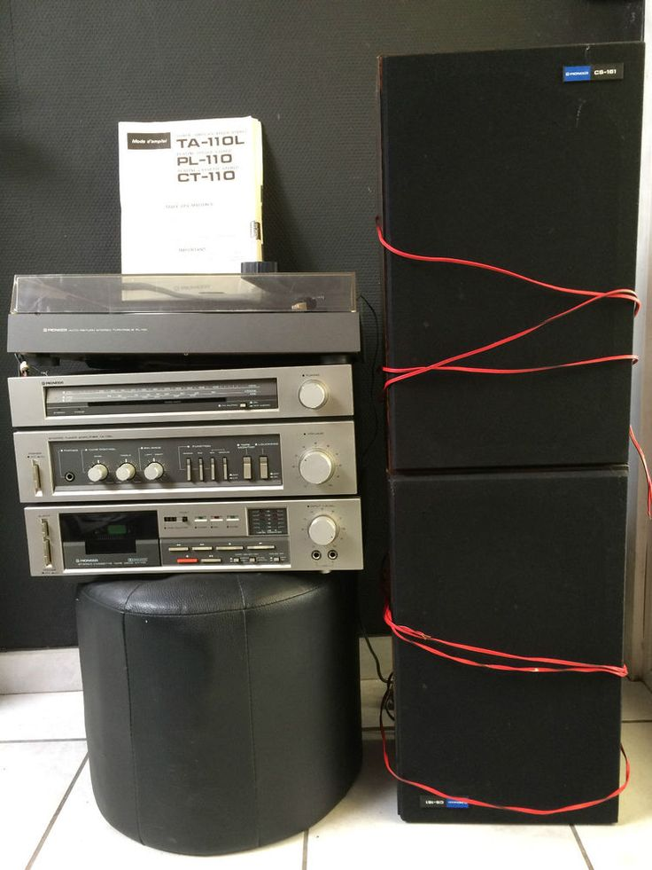 Chaîne Hifi Pioneer Radio, K7, tourne-disque et 2 baffles