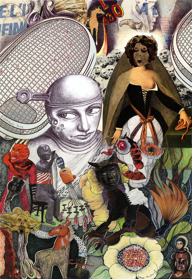 """I see you ""  Exquisite corpse, Norma Minkowitz and Bernard Dumaine"