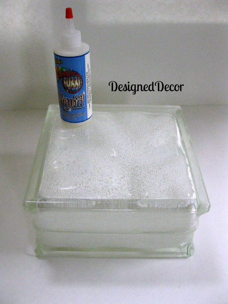 Step 4: Pour glitter of your choice into the glass block. Description from designeddecor.com. I searched for this on bing.com/images More
