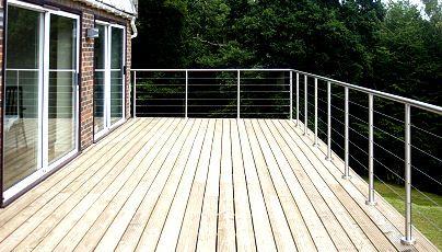 The 25 best stainless steel railing ideas on pinterest for Garden decking handrails