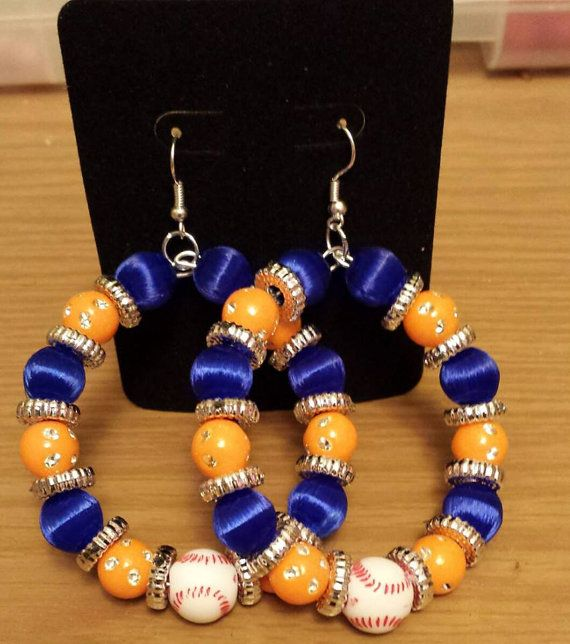 Detroit Tigers team colors inspired earring by THEACCESSORIEDOLL, $10.00