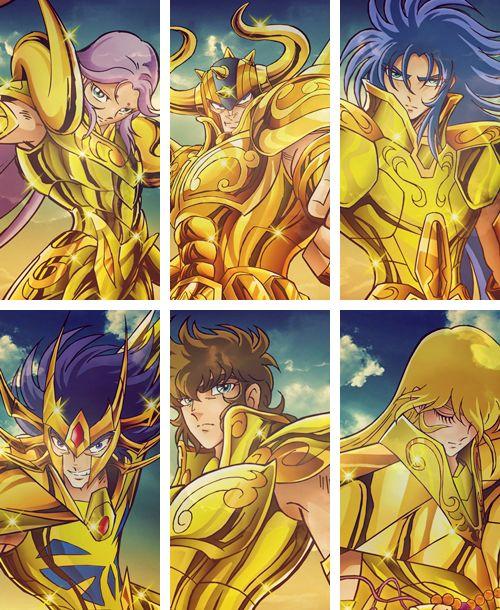 Caballeros de Oro: Aries, Tauro, Geminis, Cancer, Leo y Virgo