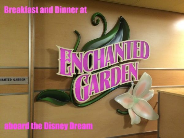 A review of Enchanted Garden on the Disney Dream