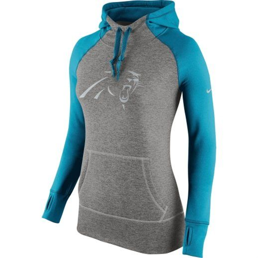 Carolina Panthers Women's Charcoal Platinum Nike Performance Hoodie #panthers #football #nfl