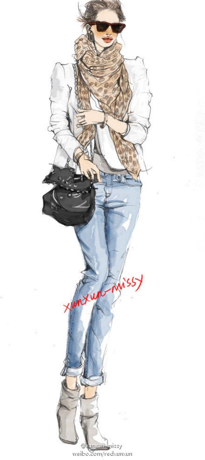 【控首饰】xunxun-missy 手绘时装插画