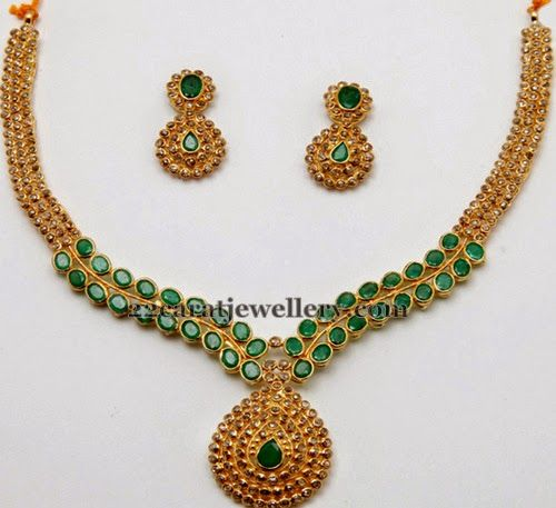 Delightful Uncut Sets with Emeralds | Jewellery Designs