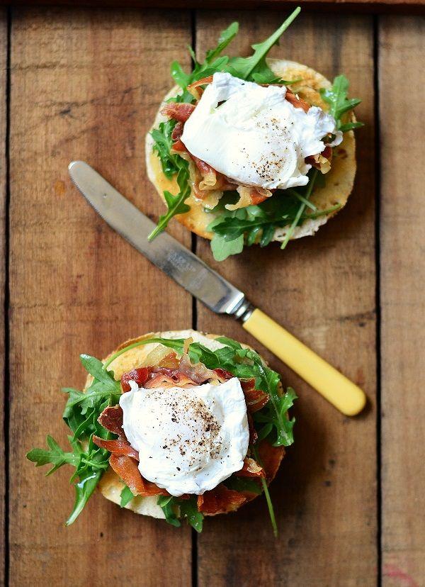 Egg, Prosciutto, Arugula & Olive Oil Sandwich