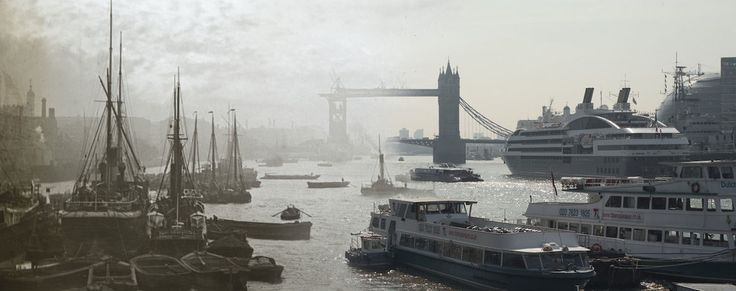 16 Ghostly Images Of London Bridges, Blended With The Present Day