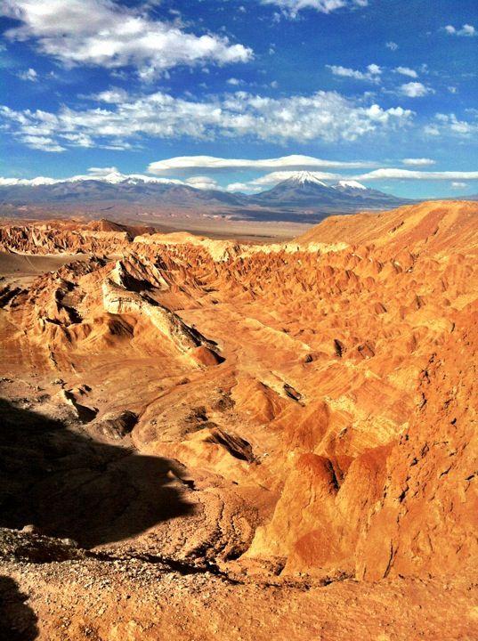 Valle de La Luna in San Pedro de Atacama, Antofagasta