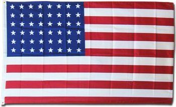 USA (48 Stars) - Historical Flag 3x5' Polyester by Flagline. $4.99. 3x5' Polyester Flag - 48-star flag. These historic flags are created with exacting detail and screen-printed onto 100% polyester.. Save 71%!