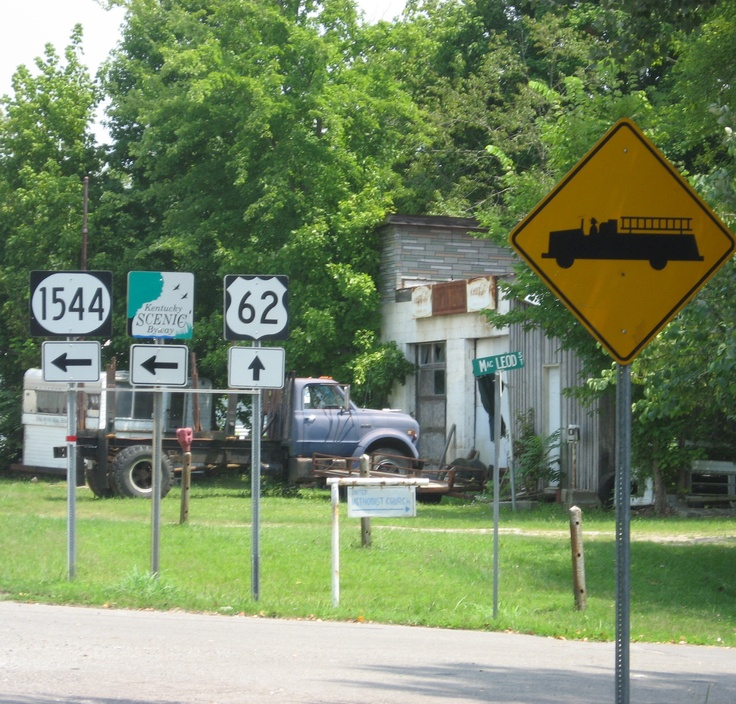 Kentucky Freeway Map%0A Major intersection at Rosine  KY