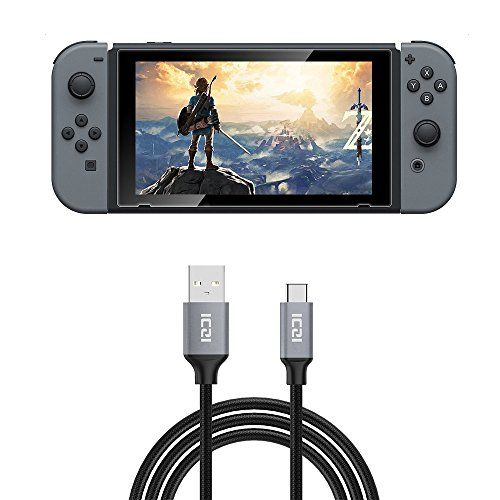 Nintendo Switch Cable ICZI USB 2.0 Type A to Type C (USB to USB-C) Charging Cable for Nintendo Switch (10 Feet Braided)
