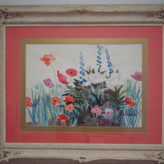 Here is #poppies in its #frame. #Contact us for more information on this work it anything else you see that peaks your interest. Make sure to #follow us @nadia_art_gallery.