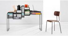 Scrivania modulare Grid, nera | made.com