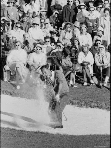 Golf Player Arnold Palmer, Blowing His Lead on the 18th Hole in the Master's Golf Tournament Premium Photographic Print by George Silk at Al... #PlayingABetterGolfGame