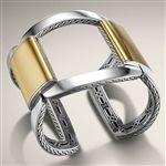 Классический золотой цепью и серебряный Широкий Запонки от Джона Харди ювелирные изделия