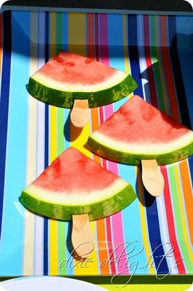 Watermellon - We served this at work for one of our fundraiser lunches.