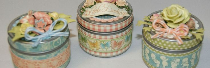 Little Darlings Baby Shower Favors _ Tea light candle tins