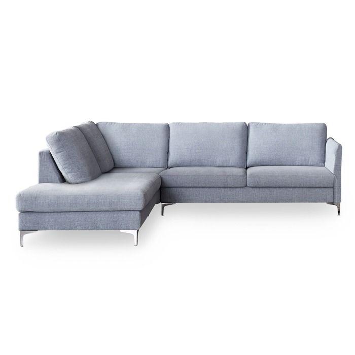 Schoner Wohnen Ecksofa Timeless Grau Stoff In 2020 Moderne Couch Schoner Wohnen Wohnen