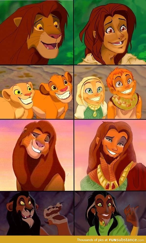 The Lion King as humans
