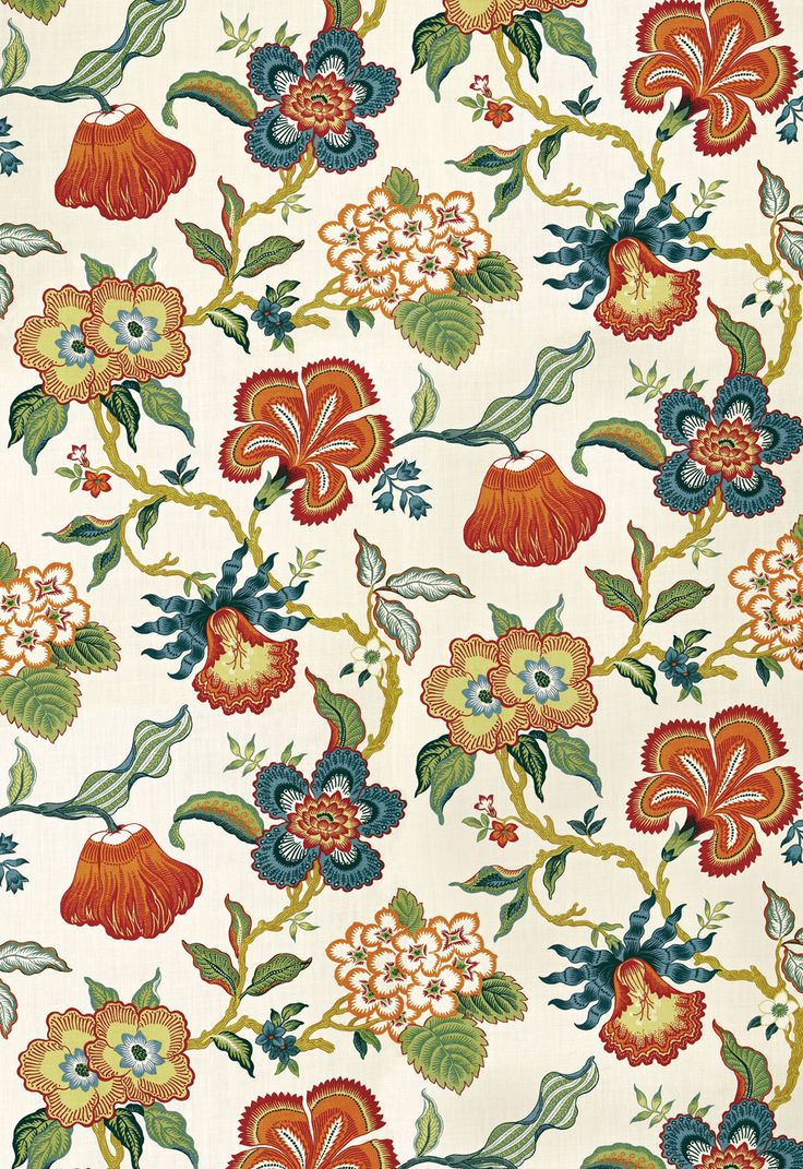 Fabric | Hothouse Flowers in Spark | Schumacher