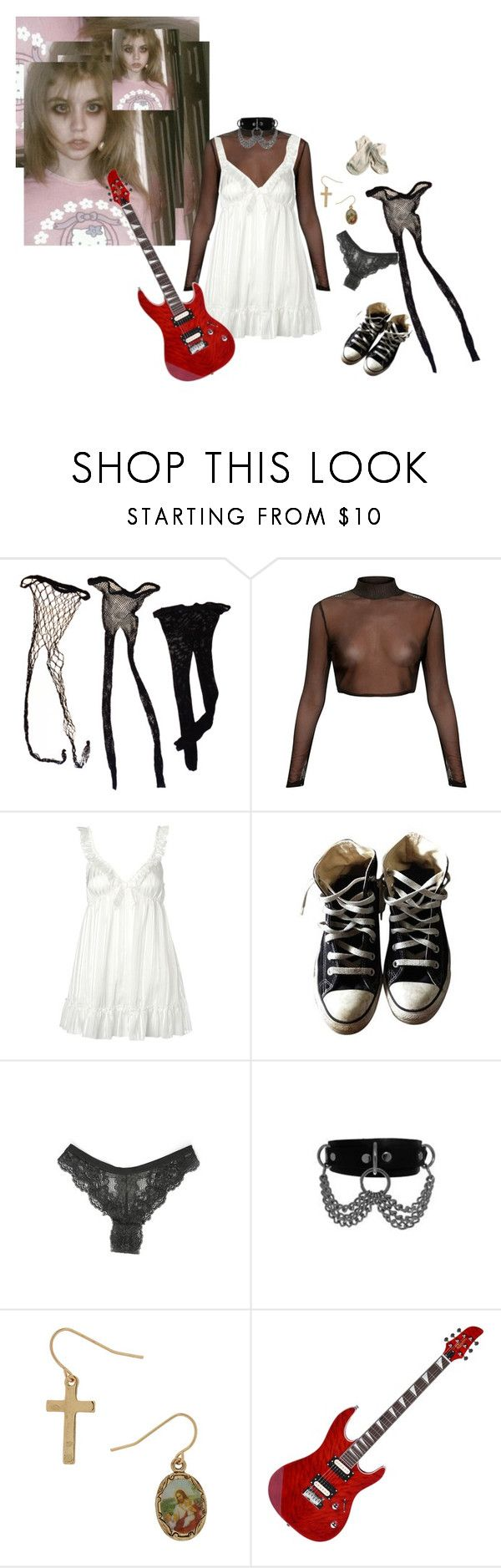 """fuk the christian soldier"" by hothotdad ❤ liked on Polyvore featuring Presence and Converse"