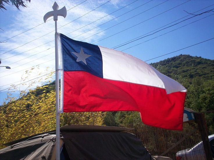 The Chilean flag.