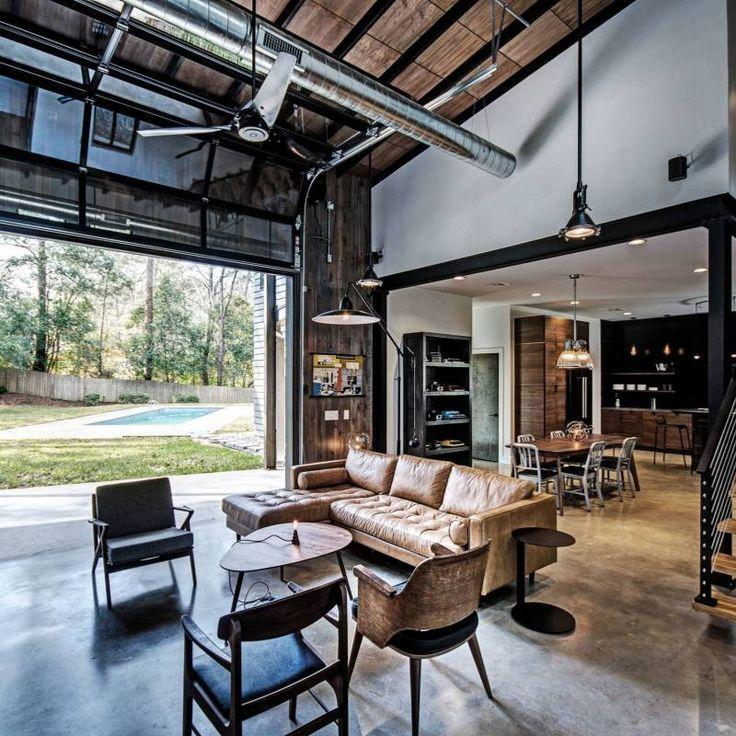 51 Industrial Living Room Decor Ideas Industrial Farmhouse